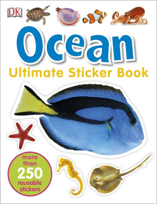 Paperback cover of Ultimate Sticker Book: Ocean