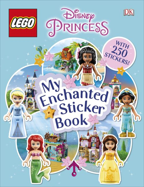 Paperback cover of LEGO Disney Princess My Enchanted Sticker Book