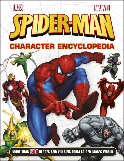 Hardback cover of Spider-Man Character Encyclopedia