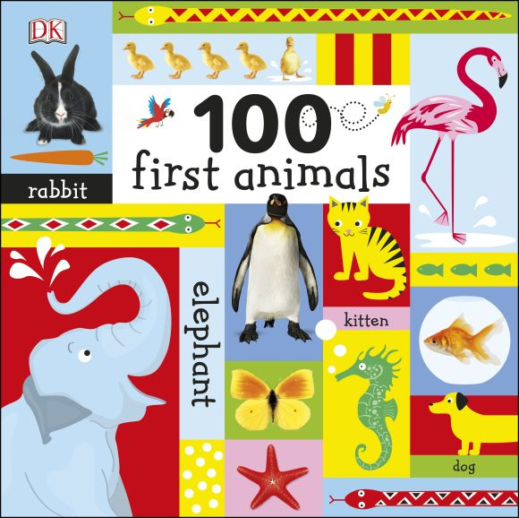 Board book cover of 100 First Animals