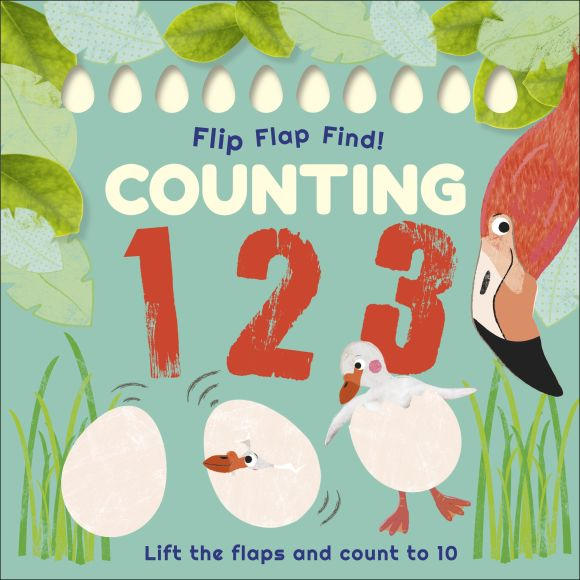 Board book cover of Flip, Flap, Find! Counting 1, 2, 3