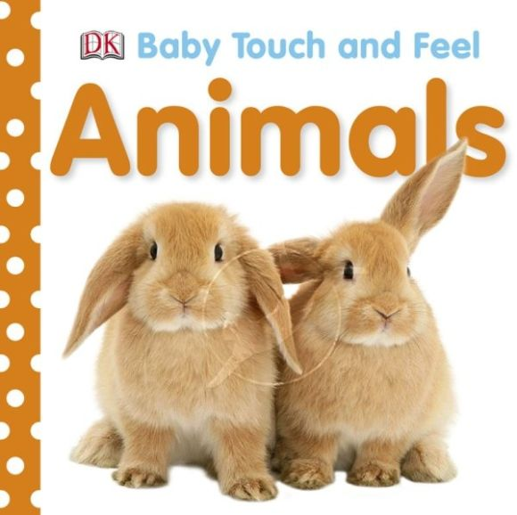 Board book cover of Baby Touch and Feel Animals