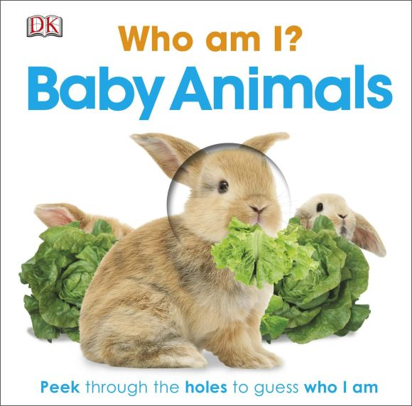 Board book cover of Who Am I? Baby Animals
