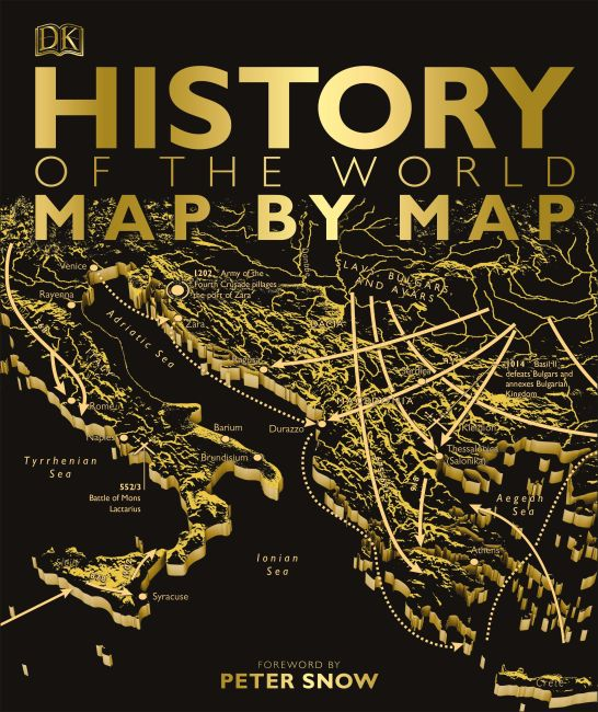 Hardback cover of History of the World Map by Map