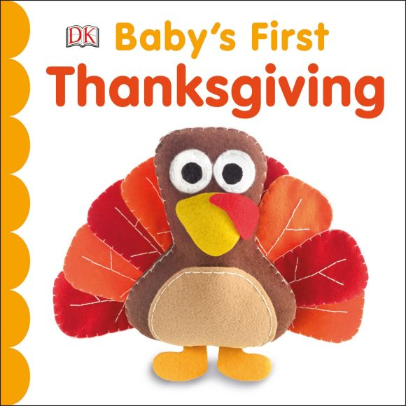 Board book cover of Baby's First Thanksgiving