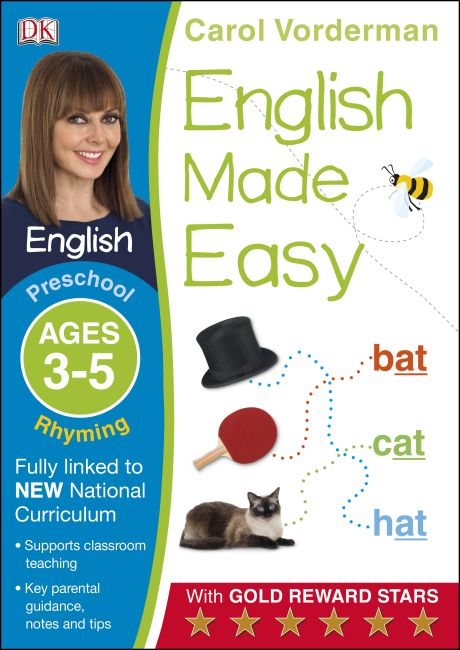 Paperback cover of English Made Easy Rhyming Ages 3-5 Preschool Key Stage 0