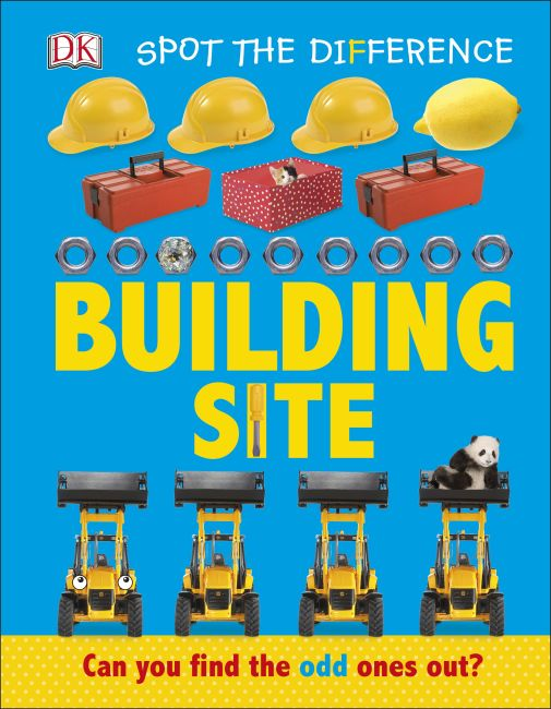 Board book cover of Spot the Difference Building Site