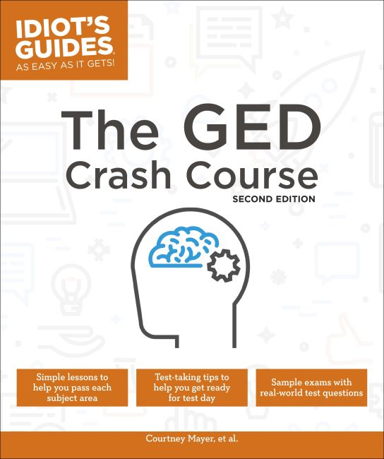 Paperback cover of The GED Crash Course, 2E