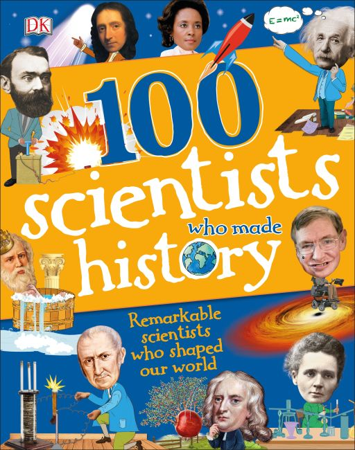 Hardback cover of 100 Scientists Who Made History
