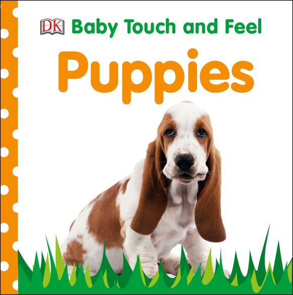 Board book cover of Baby Touch and Feel Puppies