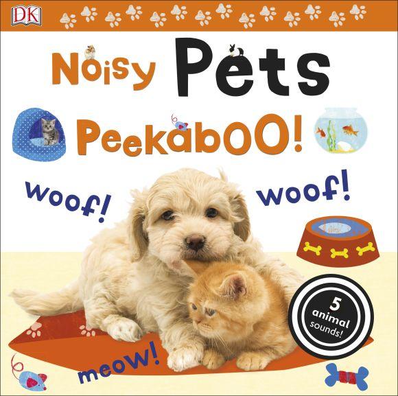 Board book cover of Noisy Pets Peekaboo!