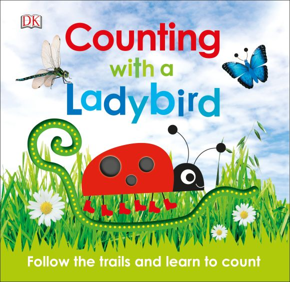 Board book cover of Counting with a Ladybird
