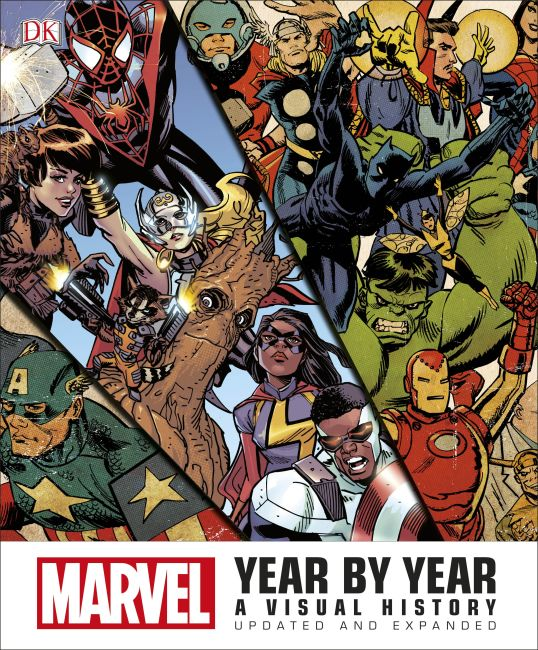 Hardback cover of Marvel Year by Year