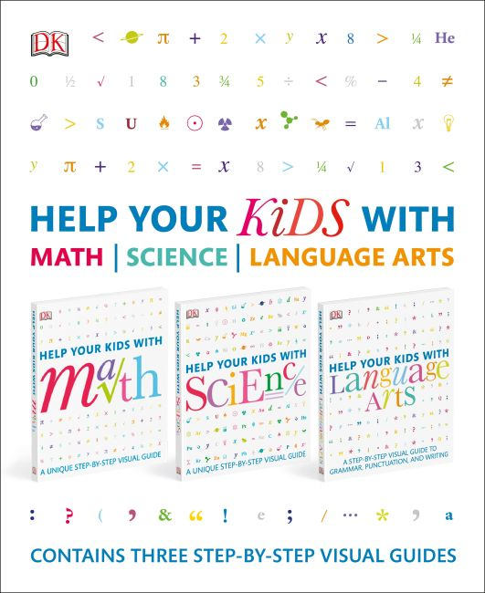 Slipcase of Editions cover of Help Your Kids With Math, Science, and Language Arts