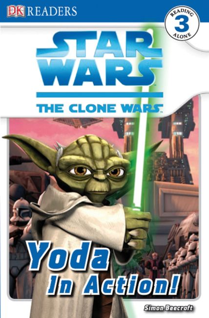 Paperback cover of DK Readers L3: Star Wars: The Clone Wars: Yoda in Action!