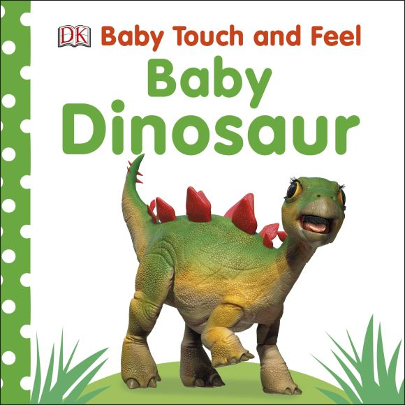 Board book cover of Baby Touch and Feel Baby Dinosaur