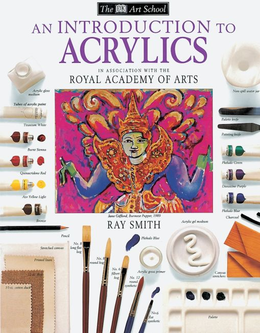 Paperback cover of DK Art School: An Introduction to Acrylics
