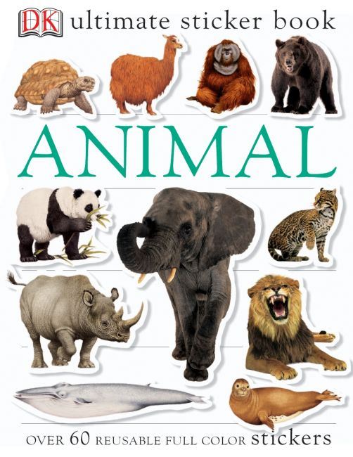 Paperback cover of Ultimate Sticker Book: Animal