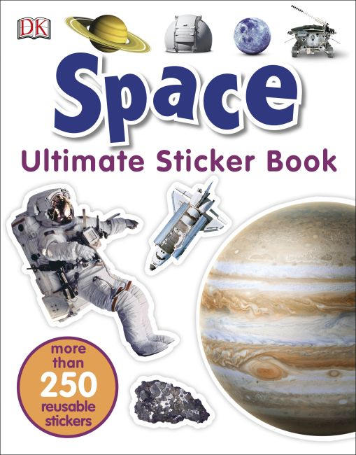 Paperback cover of Ultimate Sticker Book: Space