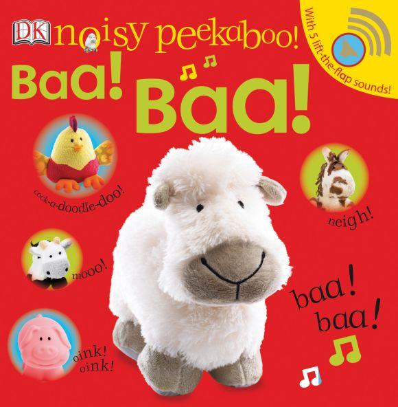 Board book cover of Noisy Peekaboo Baa! Baa!