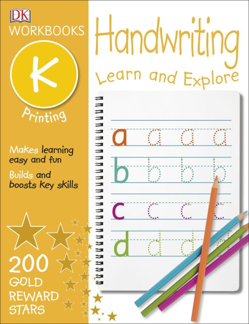 Paperback cover of DK Workbooks: Handwriting: Printing, Kindergarten