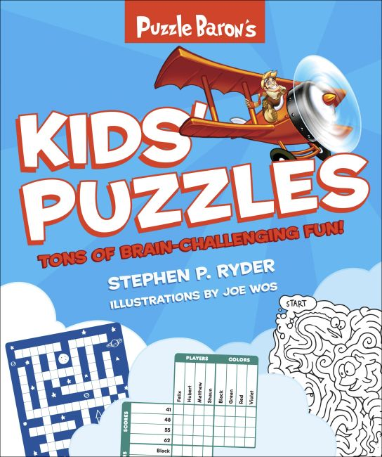 Paperback cover of Puzzle Baron's Kids' Puzzles