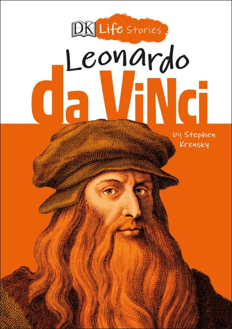 Hardback cover of DK Life Stories Leonardo da Vinci