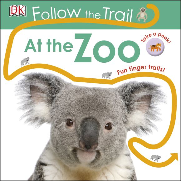 Board book cover of Follow the Trail At the Zoo