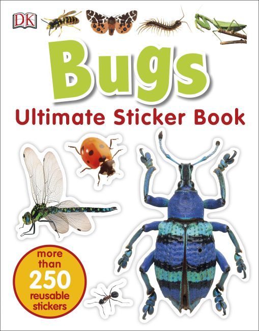 Paperback cover of Ultimate Sticker Book: Bugs