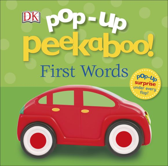 Board book cover of Pop-Up Peekaboo! First Words