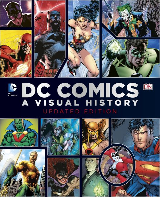 Hardback cover of DC Comics: A Visual History