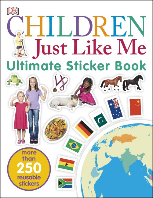Paperback cover of Children Just Like Me Ultimate Sticker Book