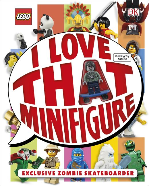 Hardback cover of LEGO: I Love That Minifigure