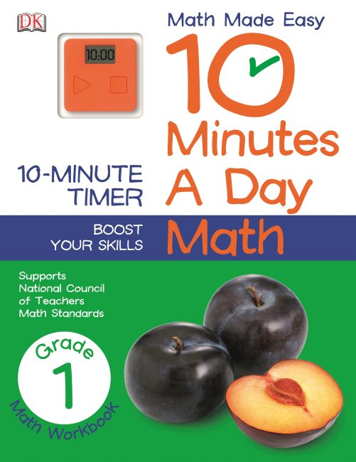 Paperback cover of 10 Minutes a Day: Math, First Grade
