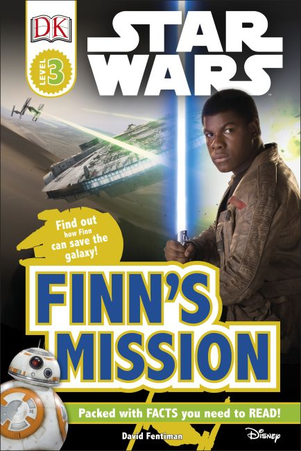Hardback cover of DK Readers L3: Star Wars: Finn's Mission