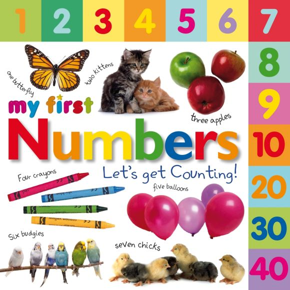 Board book cover of Tabbed Board Books: My First Numbers