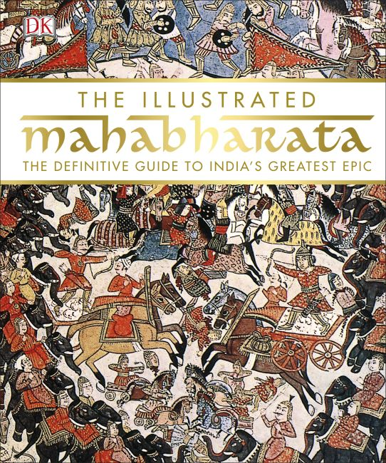 Hardback cover of The Illustrated Mahabharata
