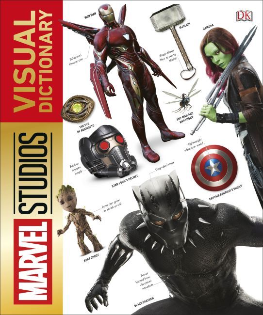 Hardback cover of Marvel Studios Visual Dictionary