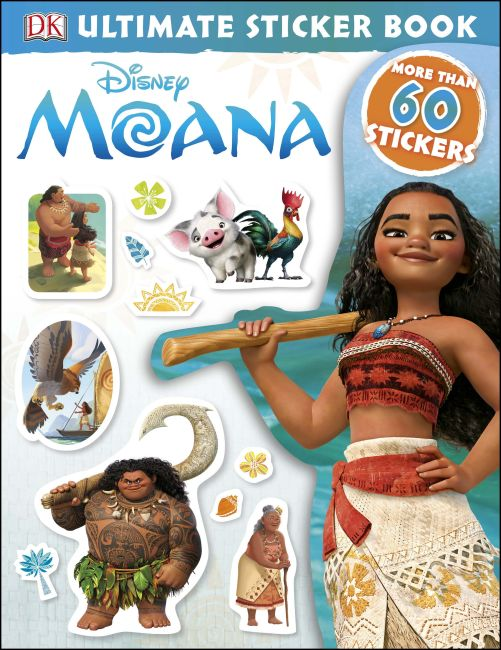 Paperback cover of Ultimate Sticker Book: Disney Moana