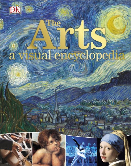 Hardback cover of The Arts: A Visual Encyclopedia