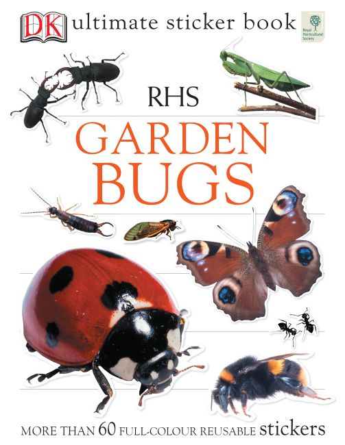 Paperback cover of RHS Garden Bugs Ultimate Sticker Book