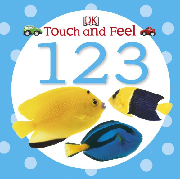 Board book cover of Touch and Feel 123