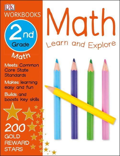 Paperback cover of DK Workbooks: Math, Second Grade