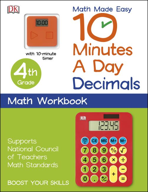Paperback cover of 10 Minutes a Day: Decimals, Fourth Grade