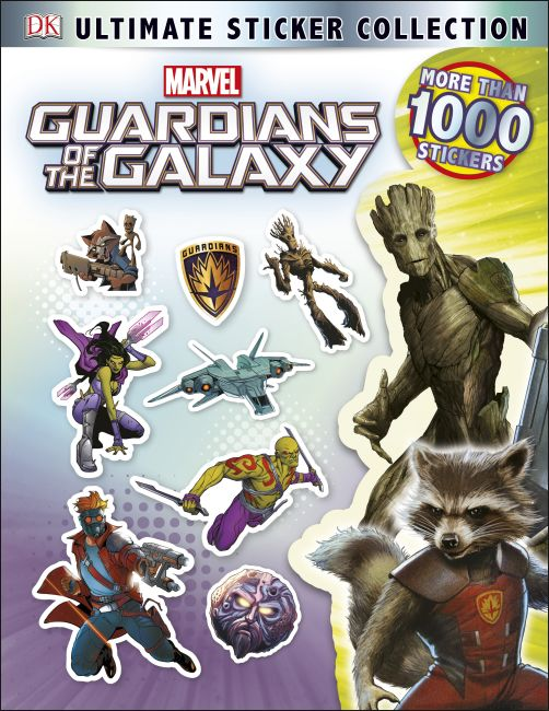 Paperback cover of Ultimate Sticker Collection: Marvel's Guardians of the Galaxy