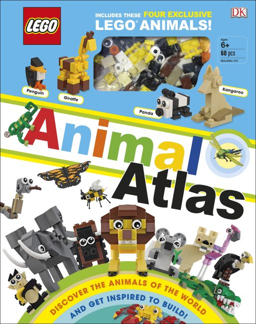Hardback cover of LEGO Animal Atlas