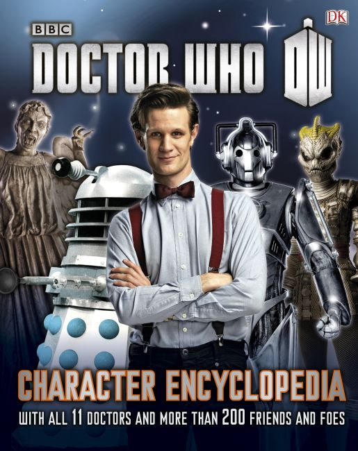 Hardback cover of Doctor Who: Character Encyclopedia