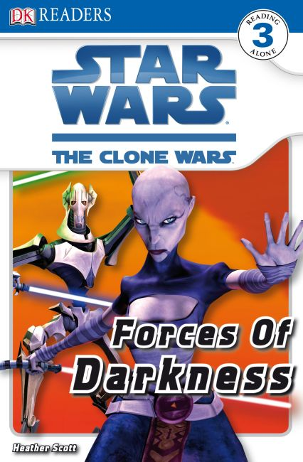 Paperback cover of DK Readers L3: Star Wars: The Clone Wars: Forces of Darkness