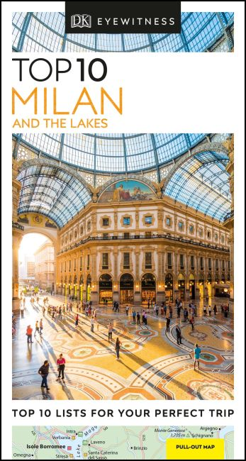 Paperback cover of DK Eyewitness Top 10 Milan and the Lakes