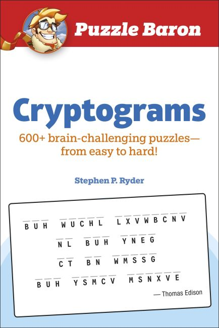 Paperback cover of Puzzle Baron Cryptograms